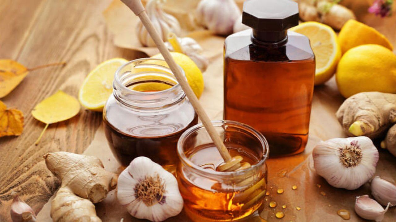 Remediu natural cu ghimbir, usturoi și miere